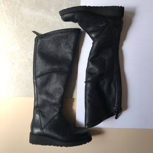 Ugg Tall Leather Boots with Fur Lining